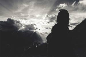 light-behind-woman
